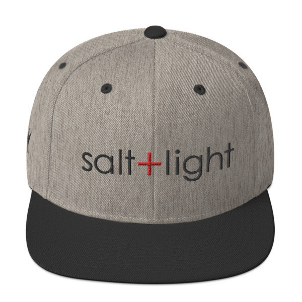 """Salt + Light"" Snapback Hat"