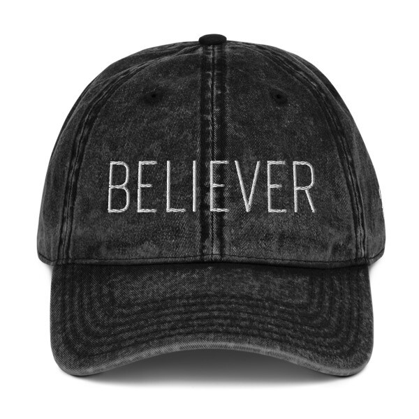 """Believer"" Vintage Cotton Twill Cap"