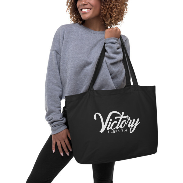 """Victory"" Large organic tote bag"