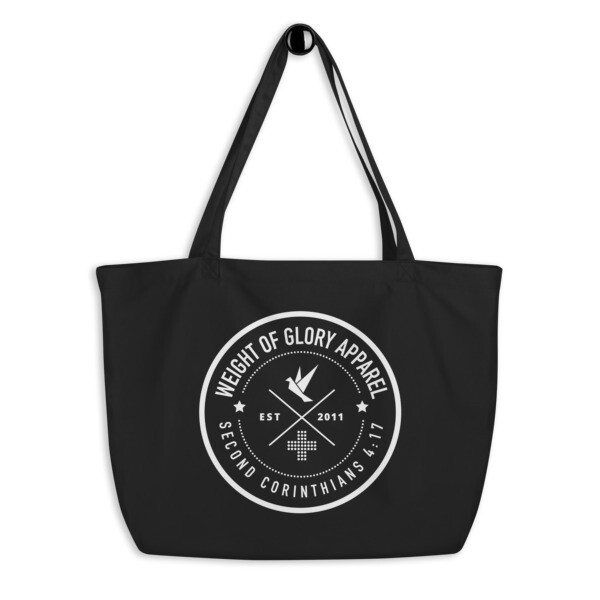 "Weight of Glory ""Logo"" Large organic tote bag"