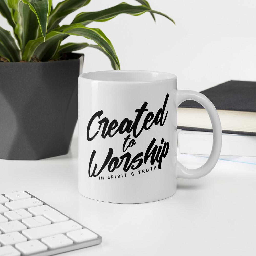 """Created to Worship"" Mug"