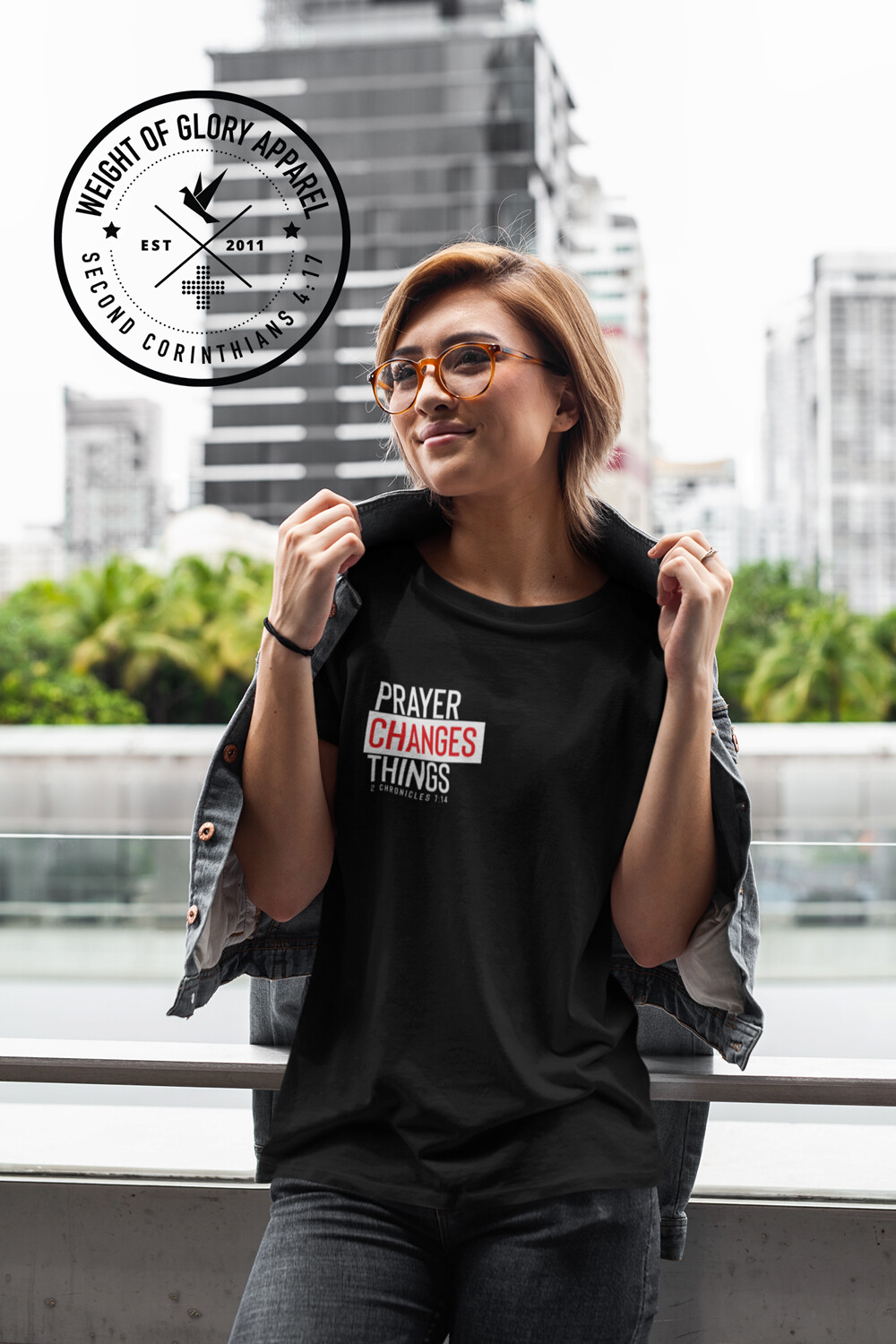 """""""Prayer Changes Things"""" Unisex T-Shirt (Right Chest & Back Print)"""