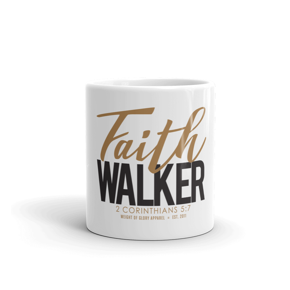 """Faith Walker"" Mug - Gold & Black"