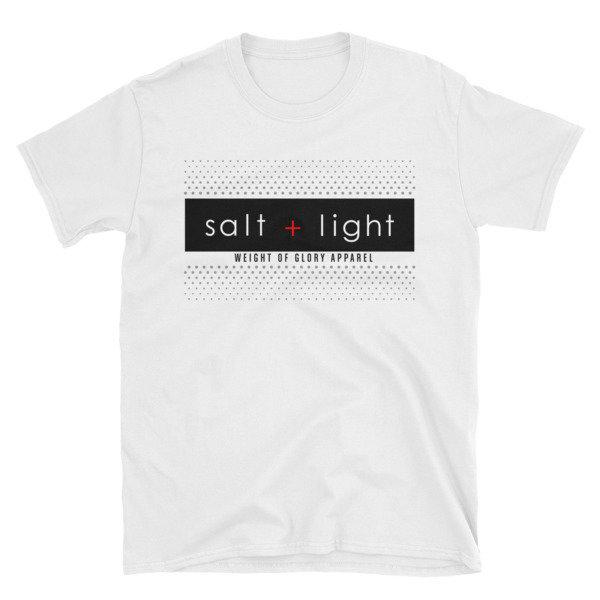 (Salt + Light) Short-Sleeve White Unisex T-Shirt