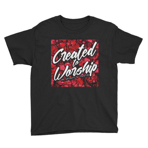 """""""Created to Worship"""" Red Petals - Youth"""