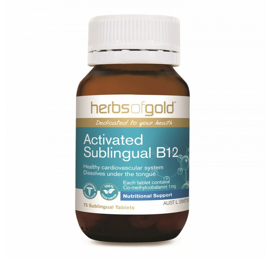 Herbs of Gold Sublingual B12 - 75 tablets
