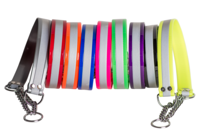 Reflective Martingale Collars for Medium to Large Sized Dogs