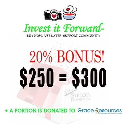 $250 Gift Certificate - 20% Bonus!