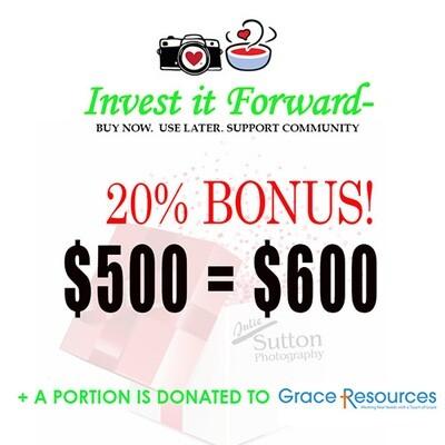 $500 Gift Certificate - 20% Bonus!