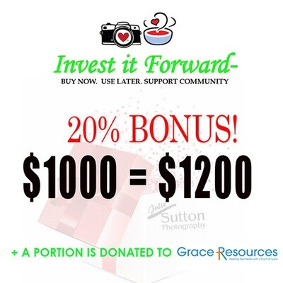 $1000 Gift Certificate - 20% Bonus!