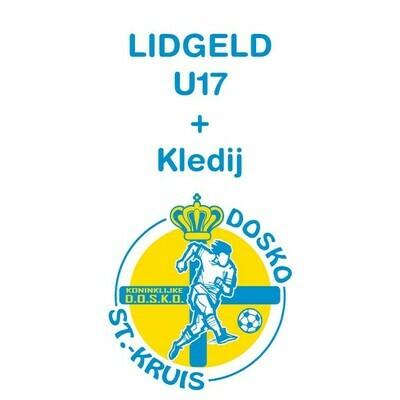 Lidgeld U17 + inbegrepen trainingspak, kousen, short en shirt