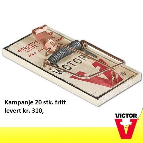Victor Metal Pedal Mousetrap 20 stk. fritt levert
