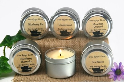 <strong>Candle Sample Set </strong><br>Mix & Match 6 Travel Candles
