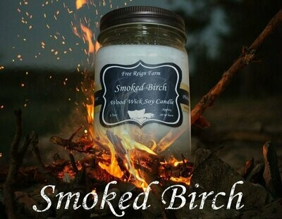 <strong>Smoked Birch</strong><br>Wood Wick Soy Candle