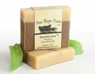 <strong>Mountain Goat  </strong><br>Patchouli  <br> Goat Milk Soap