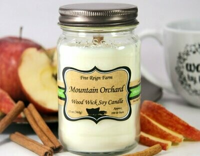 <strong>Mountain Orchard</strong><br>Wood Wick Soy Candle