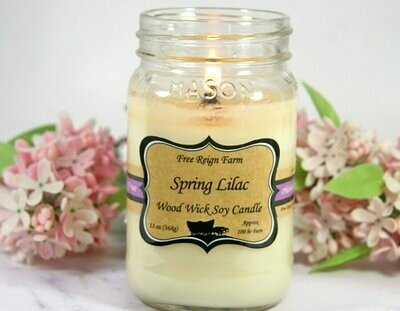 <strong>Spring Lilac</strong><br>Wood Wick Soy Candle