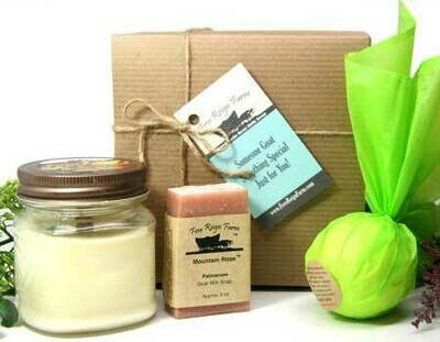 <strong>Customizable Gift Box  </strong><br> Soap, Candle, & Bath Bomb!