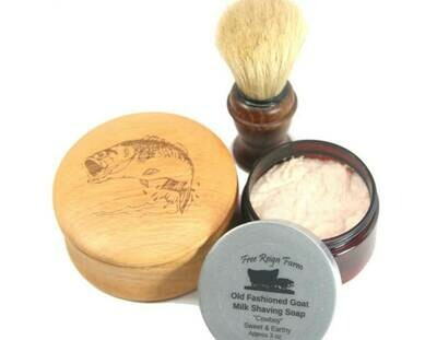 <strong>Engraved Shaving Set </strong><br> Shaving Soap, Brush & Engraved Mug