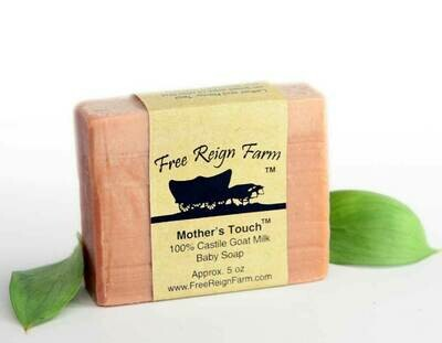 <strong>Mother's Touch  </strong><br> Pure Castile  <br> Goat Milk Baby Soap