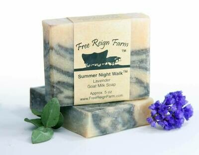 <strong>Summer Night Walk</strong><br>Lavender Goat Milk Soap