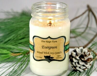 <strong>Evergreen</strong><br>Wood Wick Soy Candle