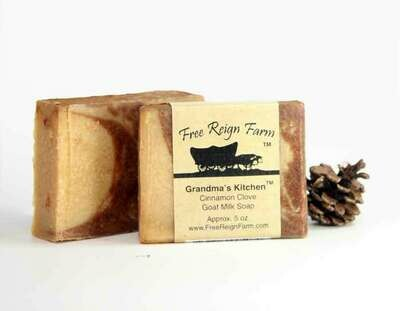 <strong>Grandma's Kitchen </strong><br>Cinnamon & Clove <br>Goat Milk Soap