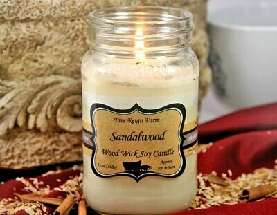 <strong>Sandalwood</strong><br>Wood Wick Soy Candle
