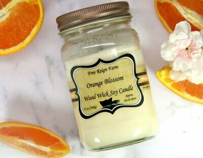Orange Blossom Wood Wick Soy Candle