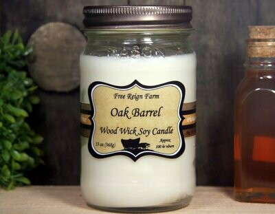 <strong>Oak Barrel</strong><br>Wood Wick Soy Candle