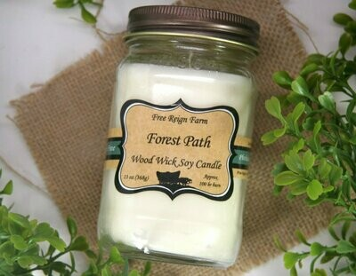 <strong>Forest Path</strong><br>Wood Wick Soy Candle