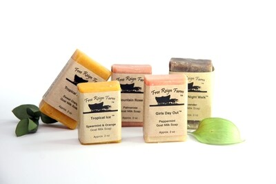 <strong>Sample Soaps  </strong><br>Choose 5 Half Bars<br>(Wedding favors, Travel Soaps, Stocking Stuffers)
