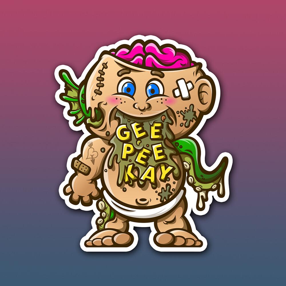 GeePeeKay Mascot Sticker