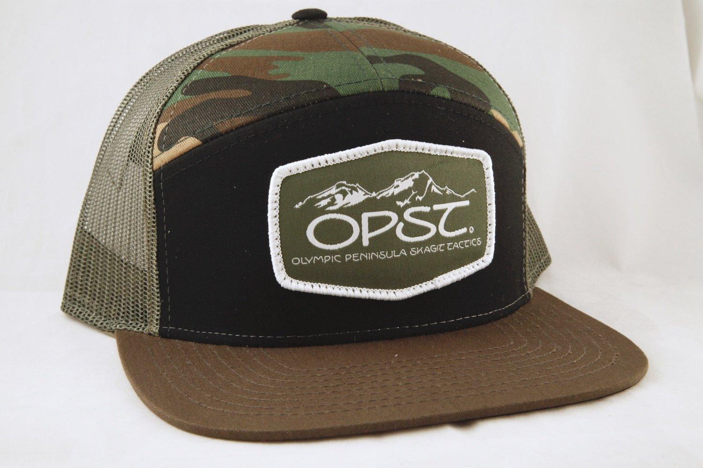 bfae4ea0621b7 OPST 7 Panel Camo Trucker Hat-Snapback
