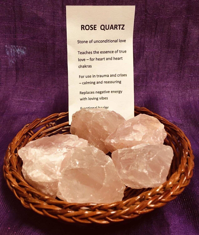 Raw Rose Quartz