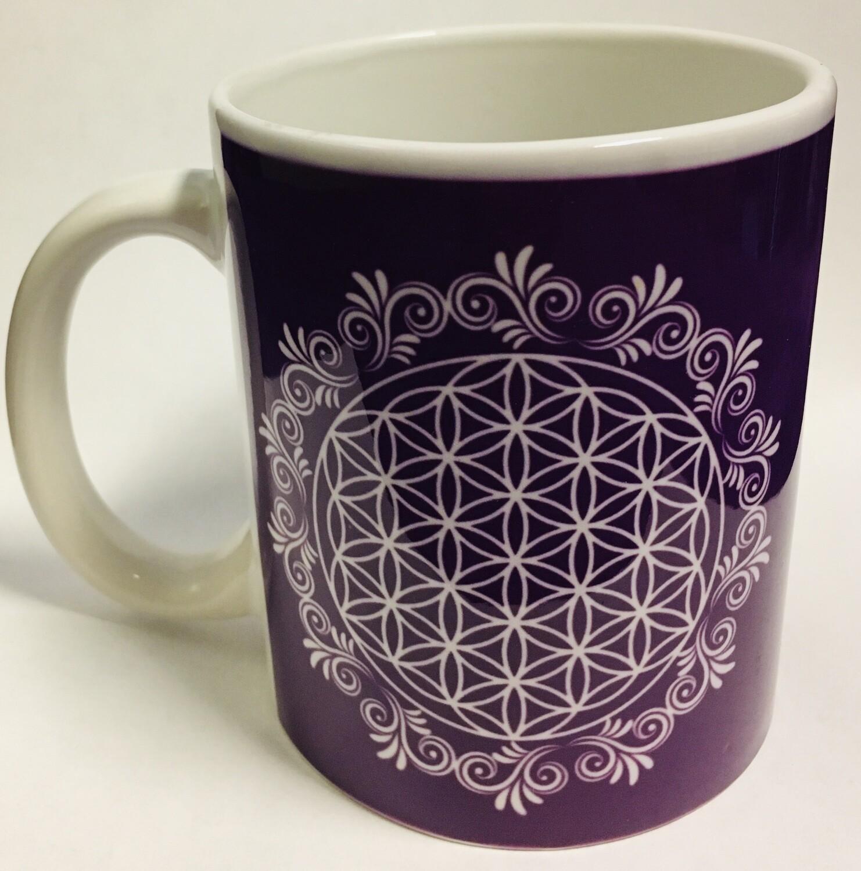 Purple Flower of Life Mug