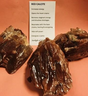 Red Calcite Chunks