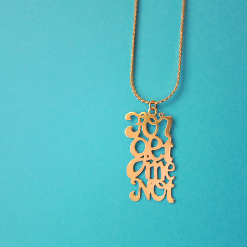 Collier Pendentif Forget Me Not