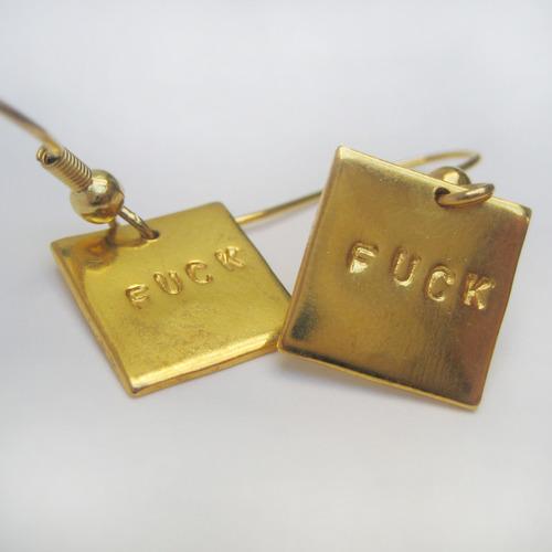 Boucles d'oreille Fuck - Or