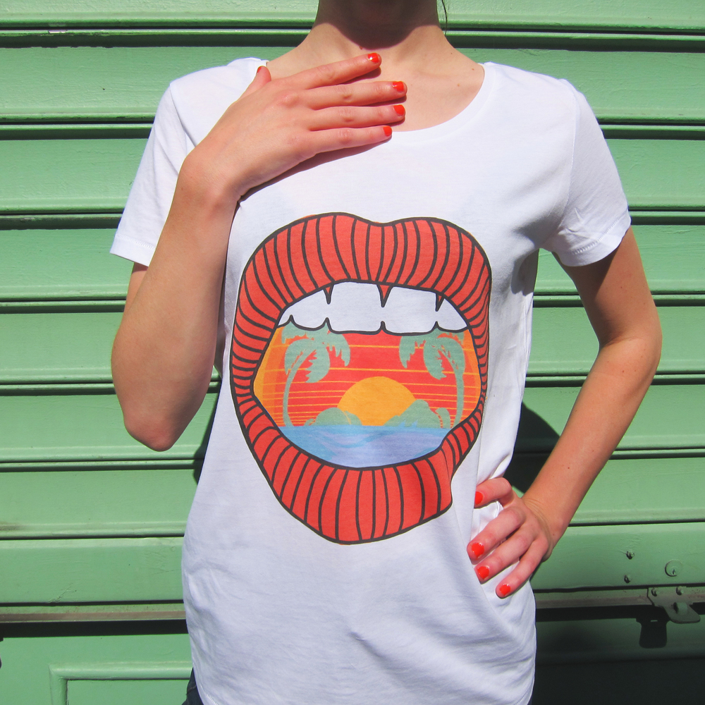 Tee-shirt Haiwaï - modèle femme