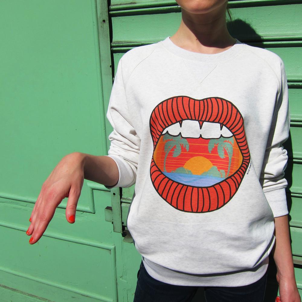 Sweat-shirt Haiwaï - modèle mixte
