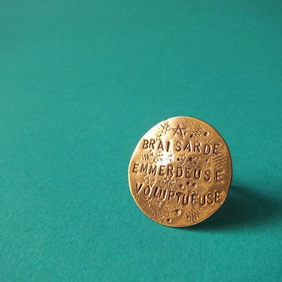 Bague Médaille - Or Rose