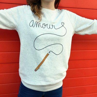 Sweat-shirt Amour - modèle mixte