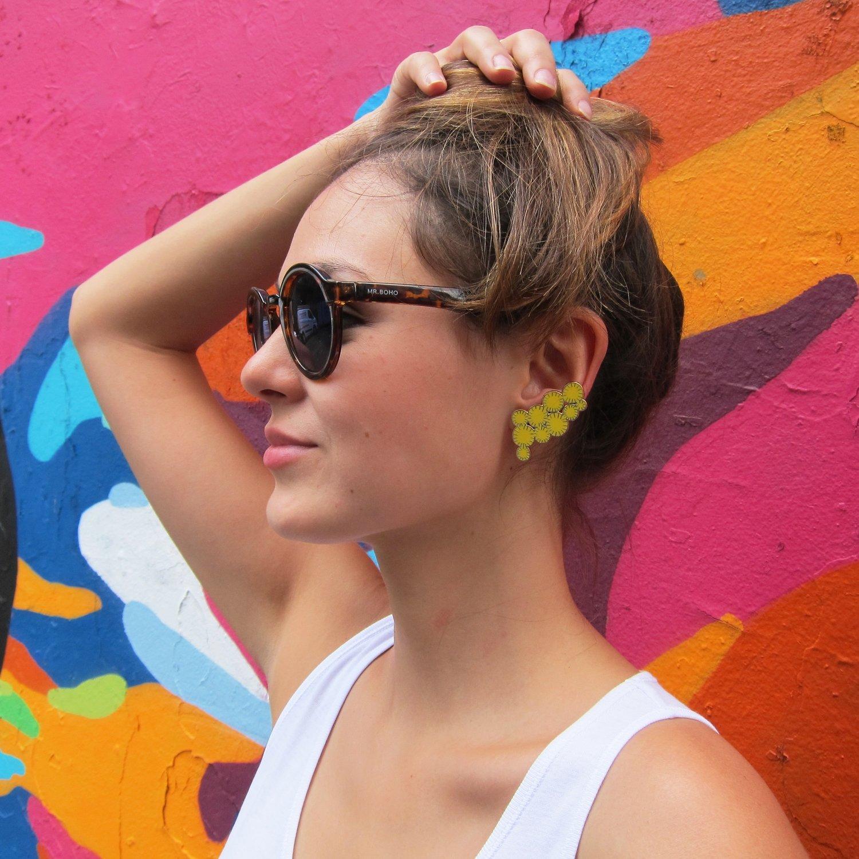 Boucles d'oreilles Mimosa - grand modèle