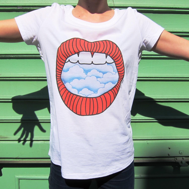 Tee-shirt Nuage - modèle femme