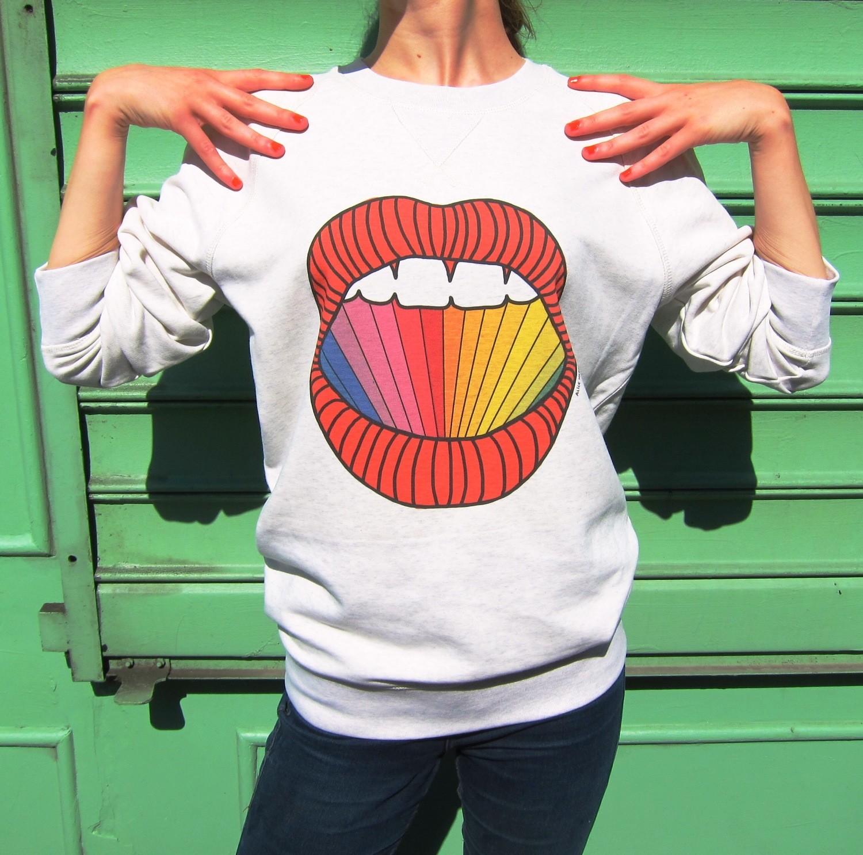Sweat-shirt Rainbow - modèle mixte