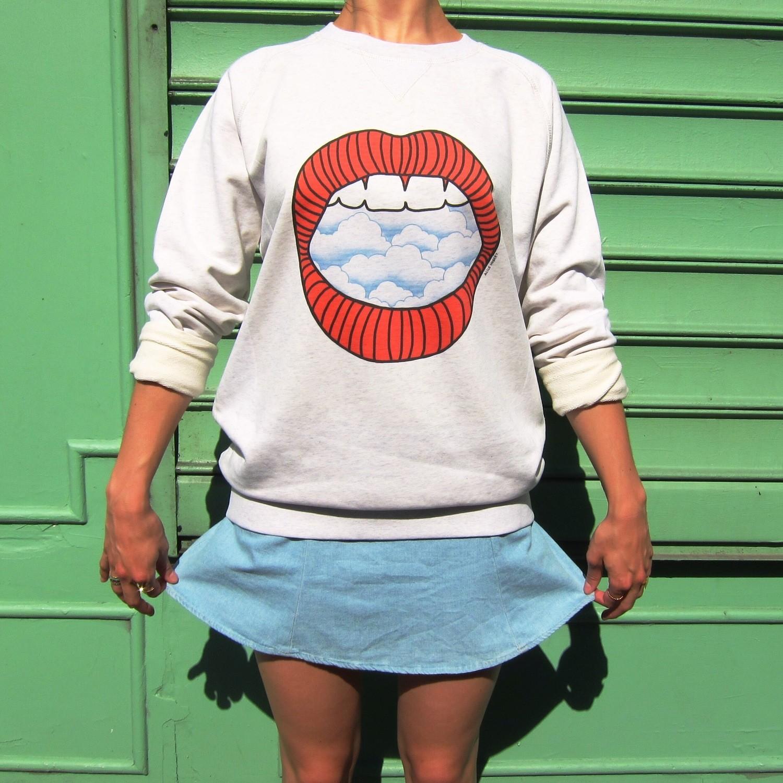 Sweat-shirt Nuage - modèle mixte