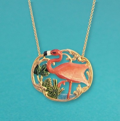 Collier Tiki Flamingo - Grand modèle