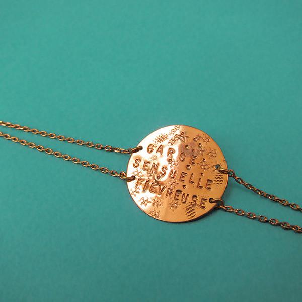 Bracelet Doubles Chaînes - Or Rose