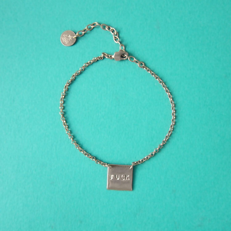 Bracelet Fuck - Argent